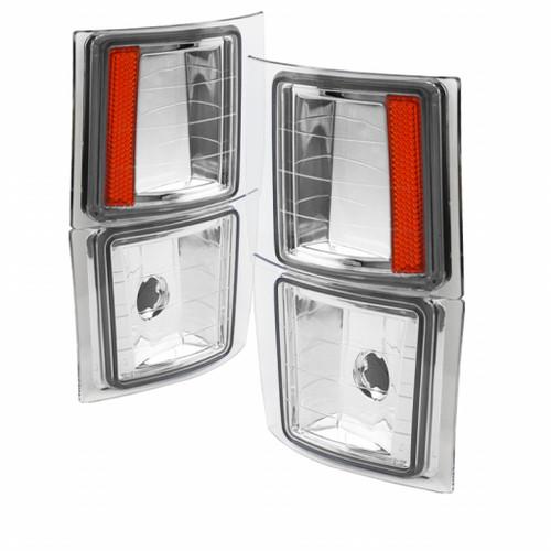 xTune For Chevy C1500/C2500/C3500 1988-1999 4 pcs Corner Lights Chrome | CCL-JH-CCK88-E-AM (TLX-spy5064424-CL360A70)