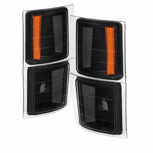 xTune For Chevy C1500/C2500/C3500 1988-1999 4 pcs Corner Lights Black | CCL-JH-CCK88-BK-AM (TLX-spy5064400-CL360A70)