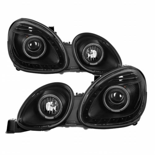 Xtune Lexus GS300/GS400/GS430 1998-05 Halogen Only Halo Projector Headlights Black PRO-JH-LGS98-LED-BK