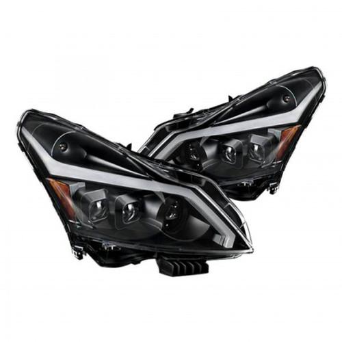 xTune 10-13 Infiniti G37 (HID w/o Tech Pkg) Proj Headlights w/Signal - Blk (PRO-JH-IG3507-4D-LB-BK)