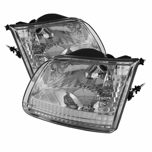 Xtune Ford F150 97-03 / Expedition 97-02 Crystal HeadLights | Chrome HD-JH-FF15097-C