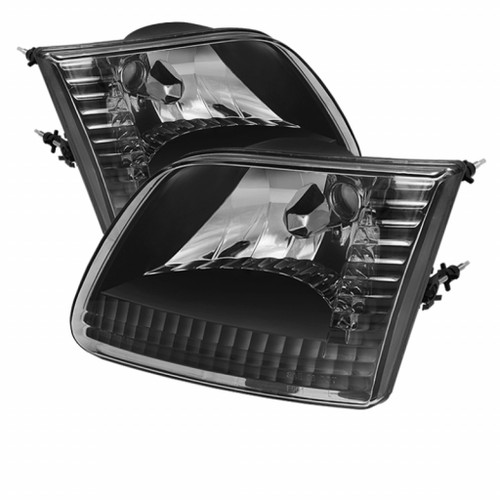 Xtune Ford F150 97-03 / Expedition 97-02 Crystal Headlights Black HD-JH-FF15097-BK