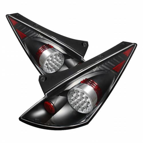 Spyder Nissan 350Z 03-05 LED Tail Lights Black ALT-YD-N350Z02-LED-BK