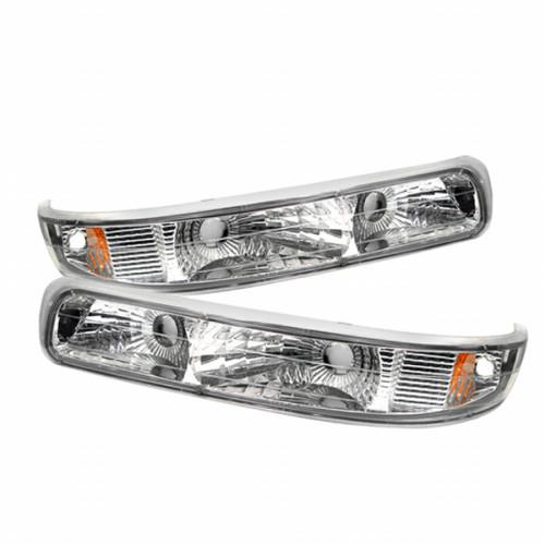 Xtune Chevy Silverado 99-02 / Chevy Suburban/TahOE 00-06 Amber Bumper Lights Euro CBL-CS99-E-AM