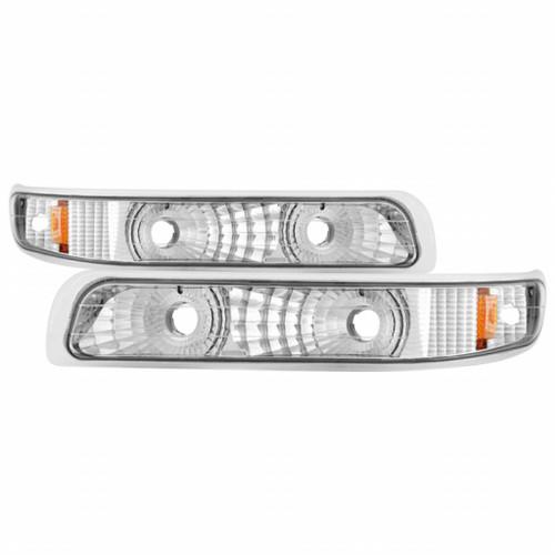 Xtune Chevy Silverado 99-02 / Chevy Suburban/TahOE 00-06 Amber Bumper Lights Euro CBL-JH-CS99-AM-E