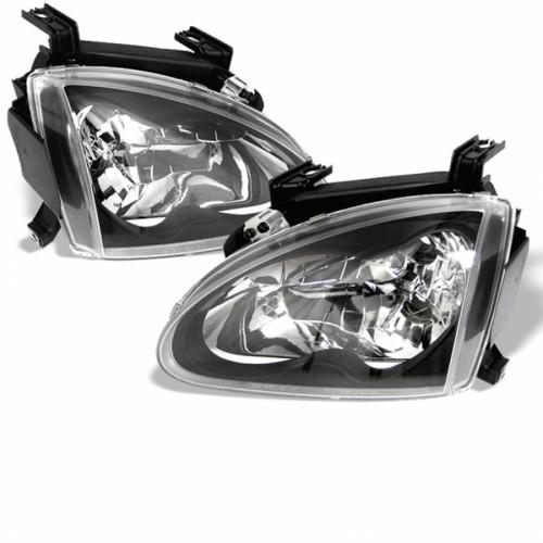 Spyder Honda Del Sol 93-97 Crystal Headlights Black HD-YD-HD93-BK