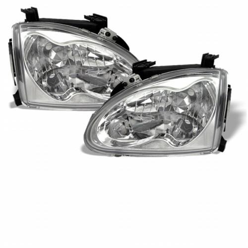 Spyder Honda Del Sol 93-97 Crystal Headlights Chrome HD-YD-HD93-C