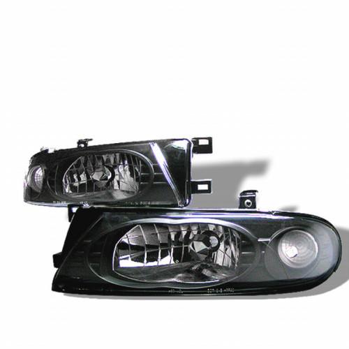 Spyder Nissan Altima 93-97 Crystal Headlights Black HD-YD-NA93-BK