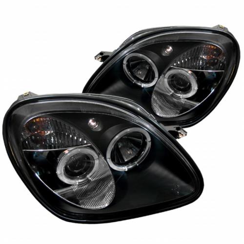 Spyder For Mercedes-Benz SLK320 01-04 1PC Projector Halogen Model LED Halo Black | PRO-YD-MBSLK98-1PC-HL-BK (TLX-spy5011190-CL360A72)