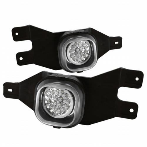 Spyder Ford F250/F350 99-04/Ford Excursion 00-05 LED Fog Lights   w/Switch Clear FL-LED-FF25001-C