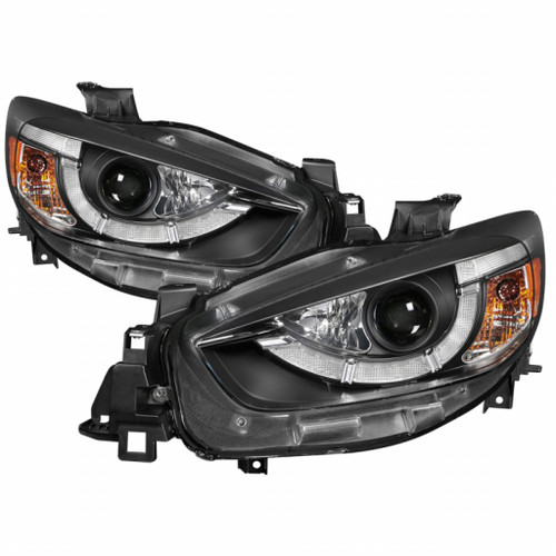 Spyder Mazda CX-5 13-15 Projector Headlights - DRL LED - Black PRO-YD-MCX513-DRL-BK