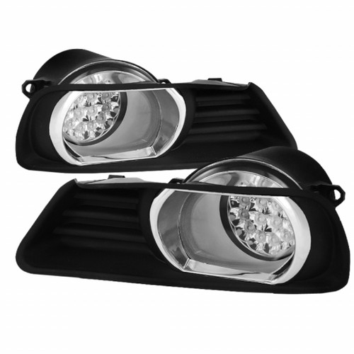 Spyder Toyota Camry 07-09 LED Fog Lights w/Switch Clear FL-LED-TCAM07-C