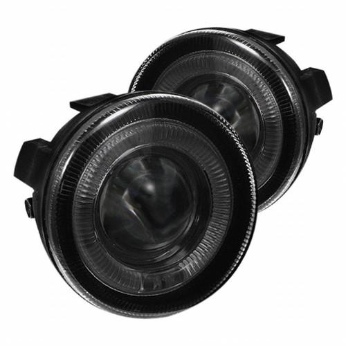 Spyder Dodge Dakota 01-04 Halo Projector Fog Lights w/swch Smke FL-P-DDAK01-HL-SM
