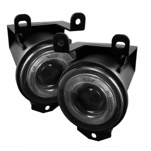 Spyder Chevy Silverado 1500/2500 1999-02 Projector Headlights CCFL Halo LED Blk Smke FL-P-GD99-HL-SM
