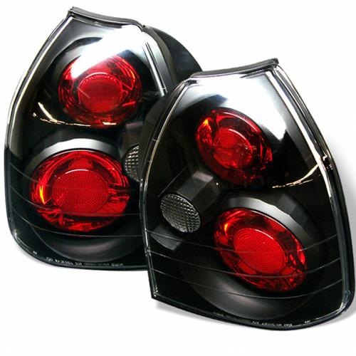 Spyder For Honda Civic 1996-2000 Euro Style Tail Lights Black ALT-YD-HC96-3D-BK | 3DR (TLX-spy5004895-CL360A70)