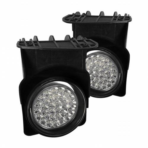 Spyder GMC Sierra 1500/2500 03-06 03-06 LED Fog Lights | w/Switch Clear FL-LED-GS03-C