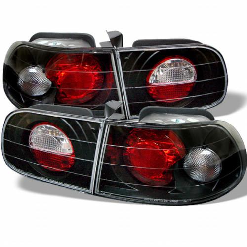 Spyder For Honda Civic 1992-1995 Euro Style Tail Lights Black ALT-YD-HC92-3D-BK   3DR (TLX-spy5004680-CL360A70)