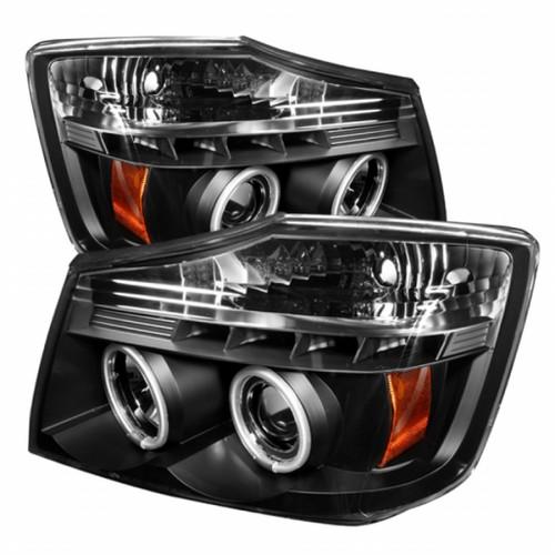 Spyder Nissan Titan 04-14/Armada 04-07 Projector HeadLights   CCFL Halo LED Blk PRO-YD-NTI04-CCFL-BK