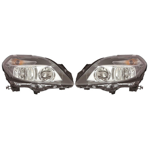 CarLights360: For Mercedes-Benz B250 Headlight 2015 Pair Driver and Passenger Side Black Housing For MB2502228 | MB2503228