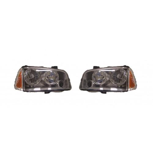 For Dodge CHARGR FM 11/8/06-10 Headlight & SML Unit Halogen Chrome SET Passenger Side Replaces CH2505128