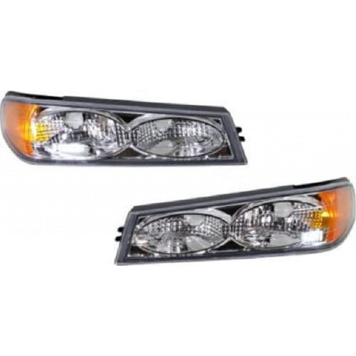 For Chevy Colorado 2004-2007 Parking Side Marker Light Chrome Twin Eyes Pair Driver and Passenger Side GM2522120