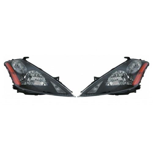 For Nissan Murano 2003-2007 Headlight Assembly Unit Black Bezel Driver and Passenger Side
