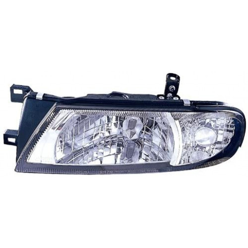 For Nissan Altima 1993-1997 Headlight Assembly Diamond Chrome Pair Driver and Passenger Side (Chrome)