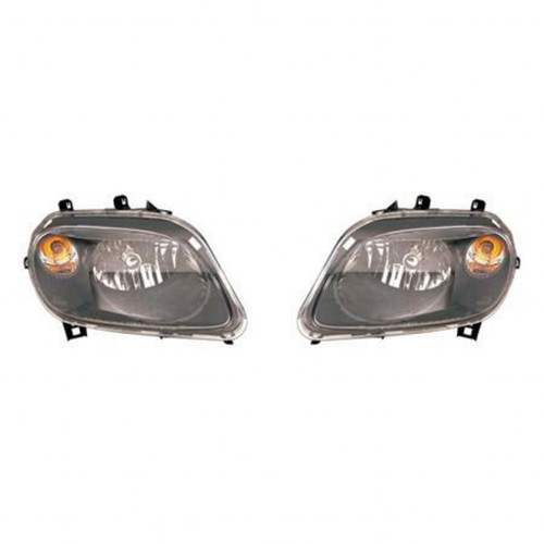 For Chevy H-R 2007-2010 Headlight Assembly Black Bezel Pair Driver and Passenger Side