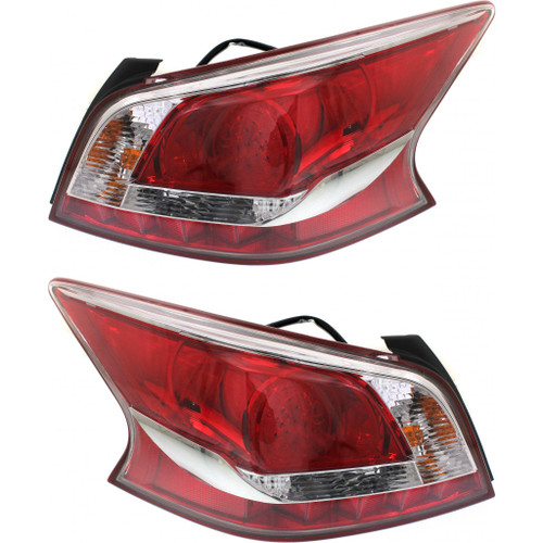 For: Nissan ALTIMA Sedan 13-14 Tail Light Assembly LED Type Black BEZEL SET Passenger Side Replaces NI2811155