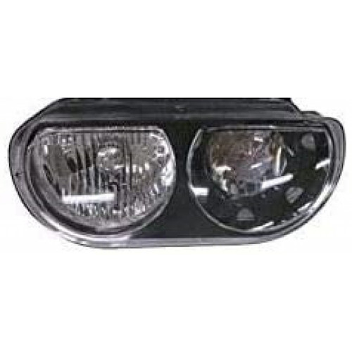 For: 2008-2014 Dodge Challenger Headlight Halogen Black Bezel Pair Driver and Passenger Side CH2505127