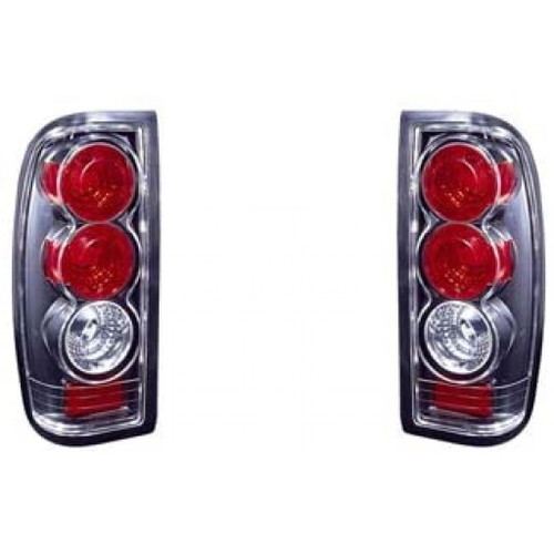 For Nissan Frontier 1998-2004 Tail Light Altezza Type Black Driver and Passenger Side NI2811107