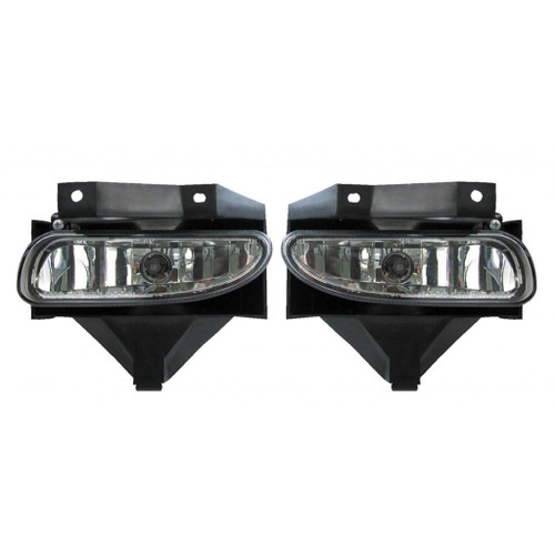 For Ford Mustang 1999-2004 Foglight Assembly Unit w/o CORBA Diamond Design Pair Driver and Passenger Side FO2591103