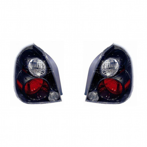 For Nissan Altima 2002-2006 Tail Light Assembly ATZ RED/White Lens Chrome Finish Bezel Pair Driver and Passenger Side NI2811122