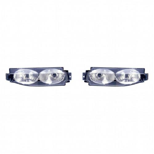 For Nissan 350Z 2003-2005 Back Up Lamp Black Diamond Driver and Passenger Side NI2889102