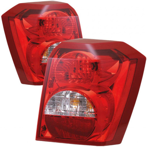 CarLights360: For 2007 Dodge Caliber Tail Light Assembly Driver and Passenger Side DOT Certified w/Bulbs - Replaces CH2818109