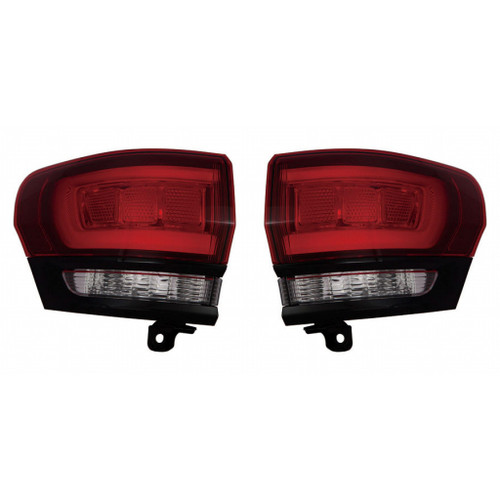 For Jeep Grand Cherokee Tail Light Assembly 2014 15 16 17 2018 Pair Driver and Passenger Side Black Housing For CH2804108