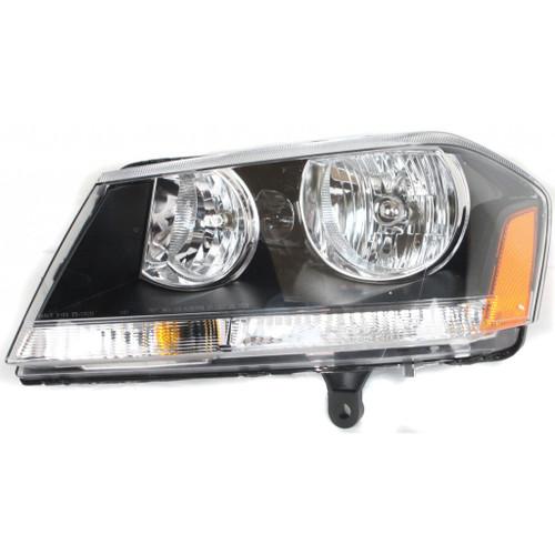 CarLights360: For 2008-2014 Dodge Avenger Headlight Assembly w/Bulbs Black Housing DOT Certified (CLX-M1-333-1124L-AF2-CL360A1-PARENT1)