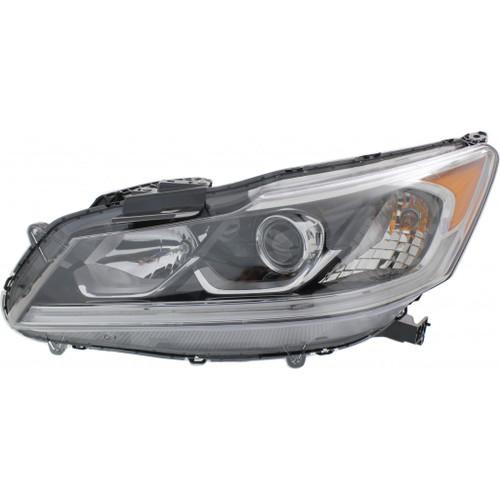 For Honda Accord Sedan 2016 2017 Headlight Assembly Halogen EX/EX-L Sport W/LED Daytime Running Lights DOT Certified (CLX-M1-316-1176L-AFN2-PARENT1)