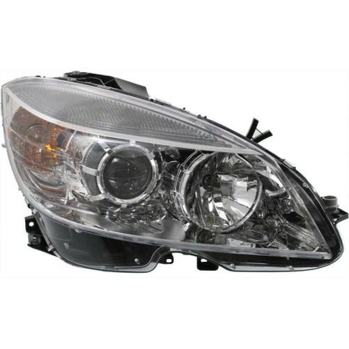 For 2008-2011 Mercedes-Benz C300 Headlight DOT Certified Bulbs Included Halogen; From 2-9-07; Chrome Bezel (CLX-M0-20-6998-00-1-PARENT1)