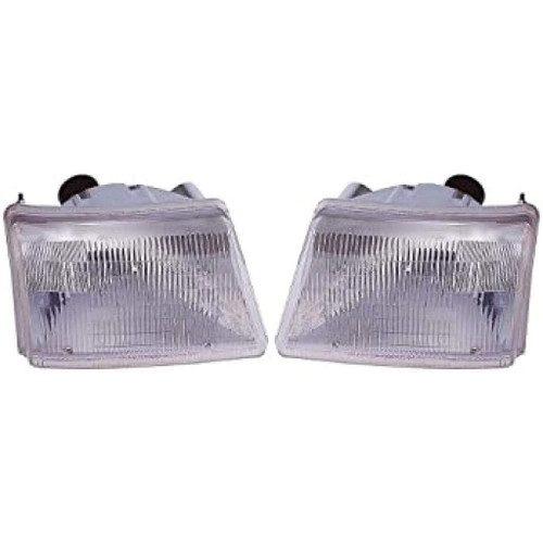 For Ford Ranger 1998-2000 Headlight Assembly Unit Diamond Design Driver and Passenger Side (CLX-M1-330-1160PXUS)