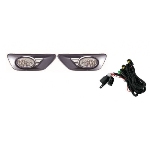 For Honda Accord Coupe 2001-2002 Kit,Foglight Assembly Set (w/Switch, Harness) Pair Driver and Passenger Side HO2590108 (CLX-M1-316-2011P-AQ)