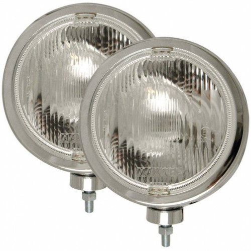 ANZO Halogen Light Universal H3 8in Round Slimline Off Road Light Chrome | (TLX-anz821004-CL360A70)