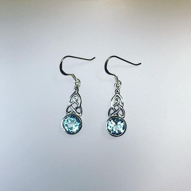 Blue Topaz Cut Earrings