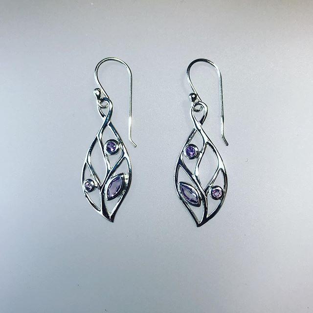 Amethyst Cut Earrings