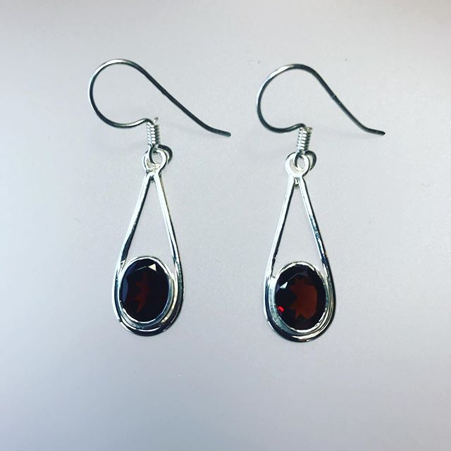 Garnet Cut Earrings