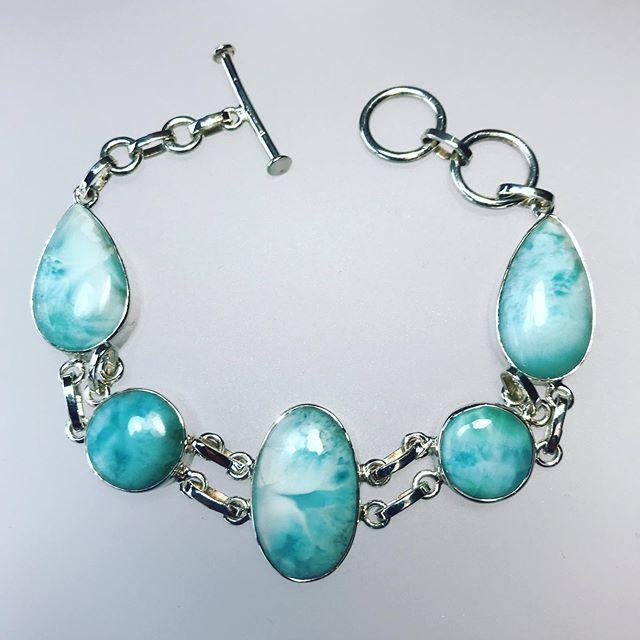 Larimar Silver Bracelet 1834