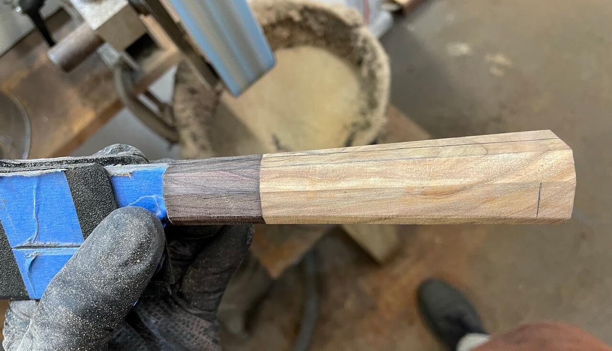 Simple way to make Wa handle shape