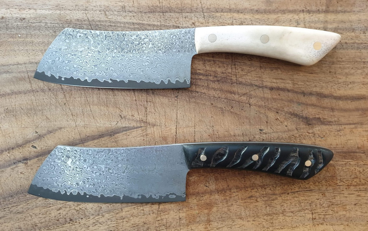 San Mai Damascus Cleavers by Michael B