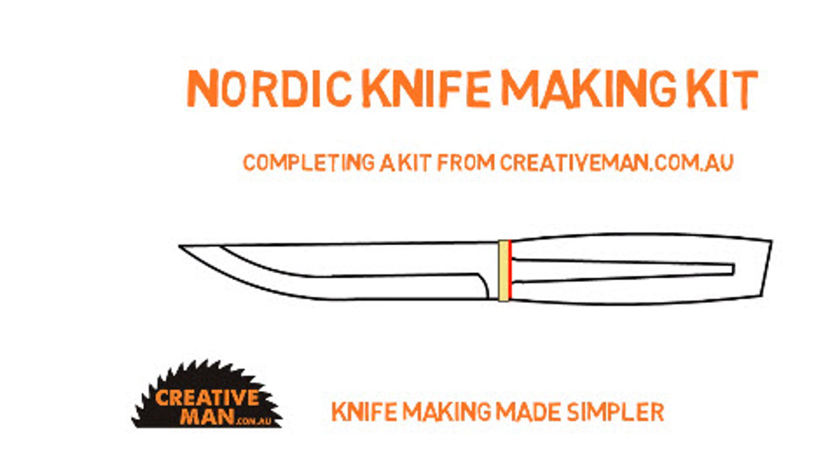 Youtube video: Putting together a Stick Tang Knife Kit