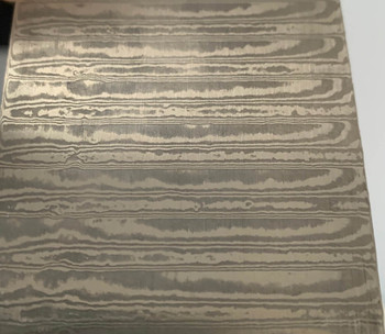 Damascus LADDER Pattern Billet, Stainless Steel 58 HRC, 325 x 50 x 3 mm